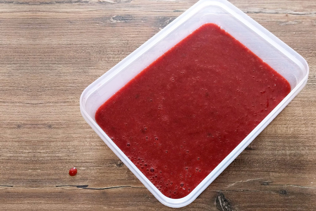 préparation sorbet fraise basilic sans sorbetière