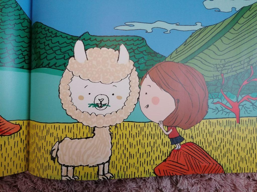 image du lama dans le livre personnalisé Ty Môme