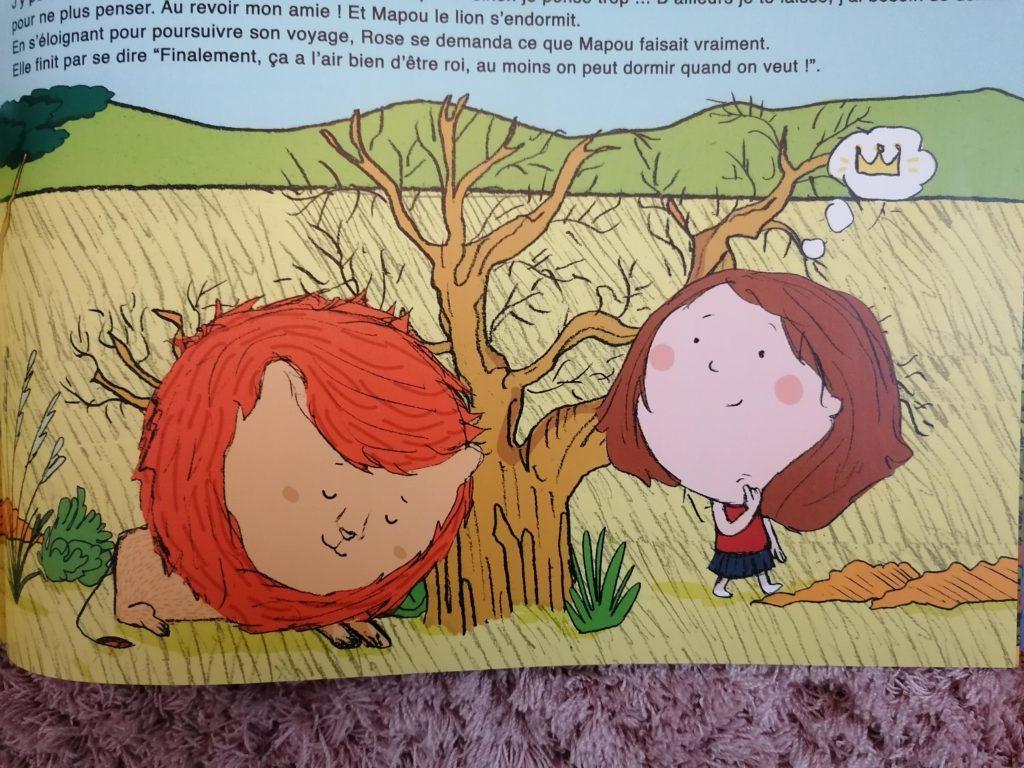 image du lion dans le livre personnalisé Ty Môme